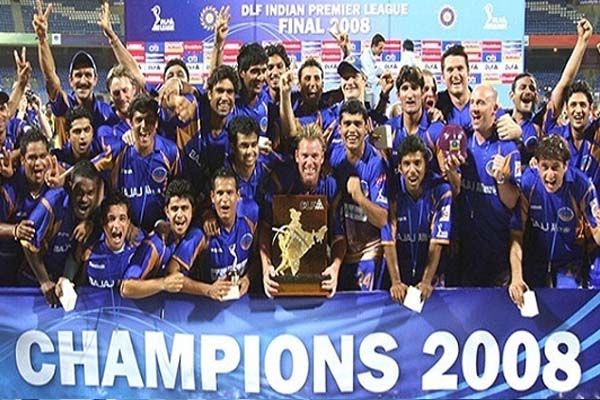 IPL 2008 Season 1 Rajasthan Royals Winning Moment Picture Image Photo